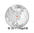 Outline Map of Xiniqi, rectangular outline