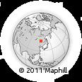 Outline Map of Alihe, rectangular outline