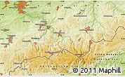 Physical Map of Zöblitz