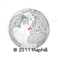 """Outline Map of the Area around 50° 31' 50"""" N, 12° 40' 30"""" W, rectangular outline"""