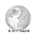 """Outline Map of the Area around 50° 31' 50"""" N, 13° 31' 30"""" W, rectangular outline"""