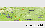 "Physical Panoramic Map of the area around 50° 31' 50"" N, 14° 31' 30"" E"
