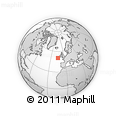 """Outline Map of the Area around 50° 31' 50"""" N, 14° 22' 30"""" W, rectangular outline"""