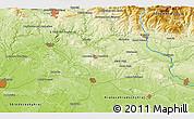 Physical 3D Map of Železný Brod