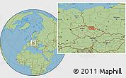 "Savanna Style Location Map of the area around 50°31'50""N,16°13'30""E"