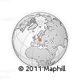 Outline Map of Nachod, rectangular outline