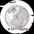 Outline Map of Bytom, rectangular outline