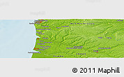 """Physical Panoramic Map of the area around 50°31'50""""N,1°46'29""""E"""