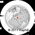 Outline Map of Zavorichi, rectangular outline
