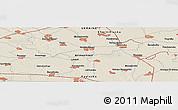 Shaded Relief Panoramic Map of Zavorichi