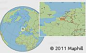 "Savanna Style Location Map of the area around 50°31'50""N,3°28'30""E"
