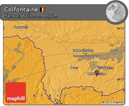 Political Map of Colfontaine