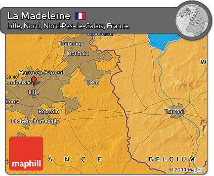 Political Map of La Madeleine