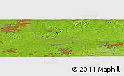 Physical Panoramic Map of Celles