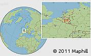 "Savanna Style Location Map of the area around 50°31'50""N,5°10'30""E"