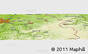 """Physical Panoramic Map of the area around 50°31'50""""N,6°1'30""""E"""