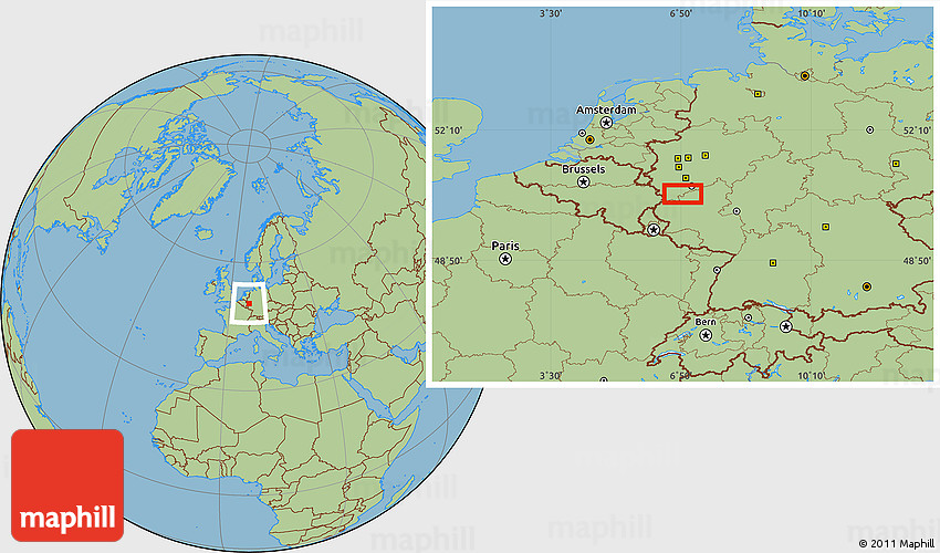 Savanna Style Location Map of Bad Godesberg