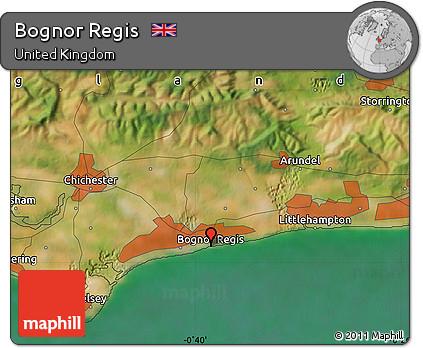 Free Satellite Map of Bognor Regis