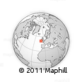 """Outline Map of the Area around 50° 55' 47"""" N, 10° 7' 30"""" W, rectangular outline"""