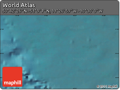 """Satellite Map of the Area around 50°55'47""""N,10°58'29""""W"""