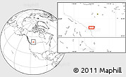 """Blank Location Map of the area around 50°55'47""""N,114°40'30""""W"""