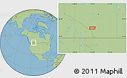 """Savanna Style Location Map of the area around 50°55'47""""N,114°40'30""""W"""