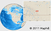 """Shaded Relief Location Map of the area around 50°55'47""""N,114°40'30""""W"""