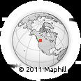 Outline Map of Revelstoke, rectangular outline