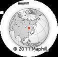 Outline Map of Genhe, rectangular outline