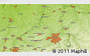 Physical 3D Map of Limbach-Oberfrohna