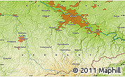 """Physical Map of the area around 50°55'47""""N,13°40'30""""E"""