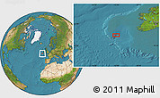 """Satellite Location Map of the area around 50°55'47""""N,13°31'30""""W"""