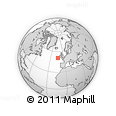 """Outline Map of the Area around 50° 55' 47"""" N, 13° 31' 30"""" W, rectangular outline"""