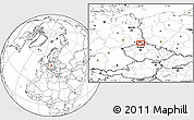 """Blank Location Map of the area around 50°55'47""""N,14°31'30""""E"""