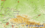 Physical Map of Jelenia Góra
