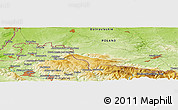 Physical Panoramic Map of Jelenia Góra