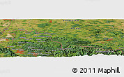 Satellite Panoramic Map of Jelenia Góra