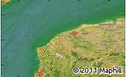 Satellite Map of Saint-Folquin