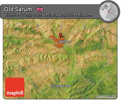 Free Satellite Map of Old Sarum