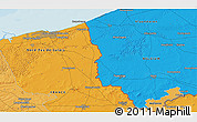 Political 3D Map of Comines