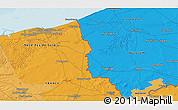 Political 3D Map of Staden