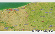 Satellite 3D Map of Comines