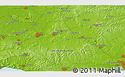 """Physical 3D Map of the area around 50°55'47""""N,2°28'30""""W"""