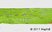"""Physical Panoramic Map of the area around 50°55'47""""N,2°28'30""""W"""