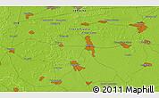 Physical 3D Map of Kiselëvka