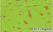 Physical Map of Kiselëvka