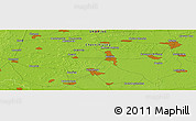 """Physical Panoramic Map of the area around 50°55'47""""N,31°31'29""""E"""