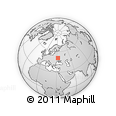 Outline Map of Ichnya, rectangular outline