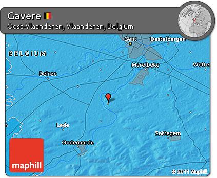 Political 3D Map of Gavere