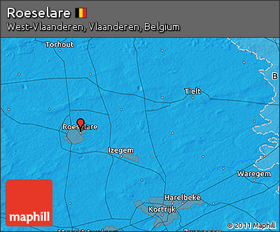 Political 3D Map of Roeselare